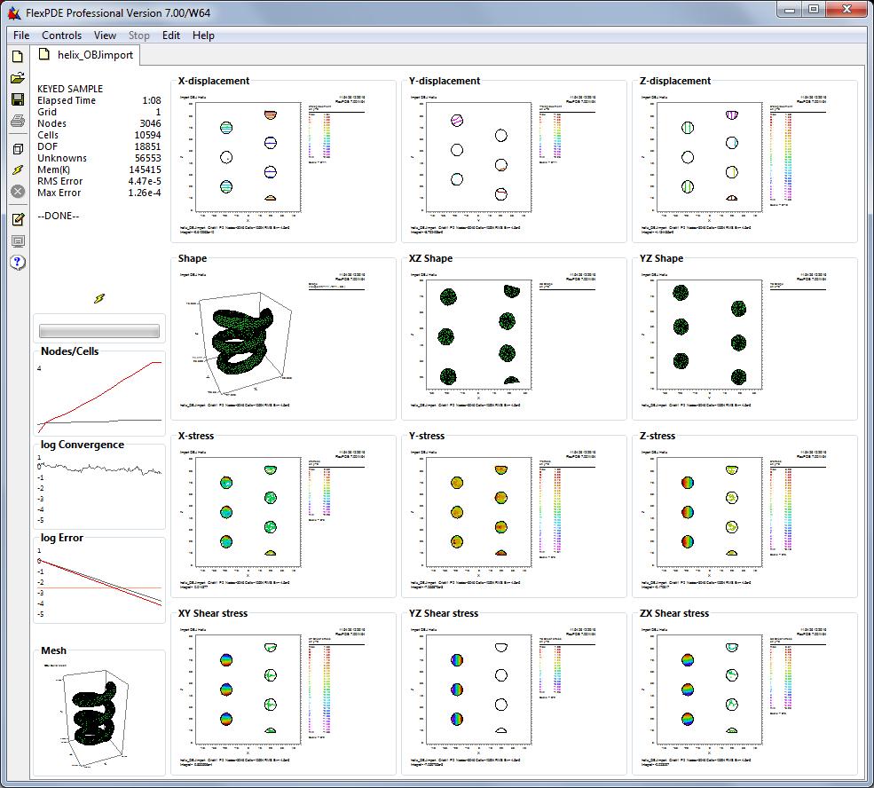 FlexPDE finite element model builder for Partial Differential Equations